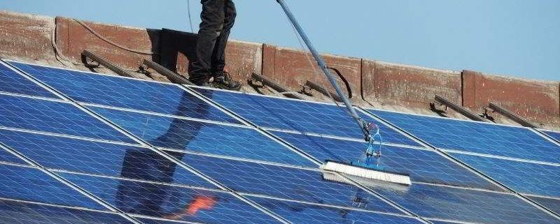 pulizia pannelli fotovoltaici roma